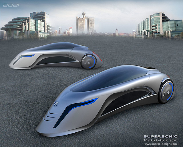Car of the Future Looks Like a Supersonic Road Rocket [PICS]