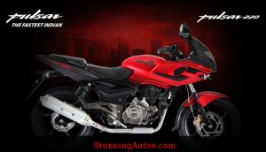 Bajaj Pulsar 220F with Speed Line