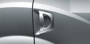 Door lever from outside