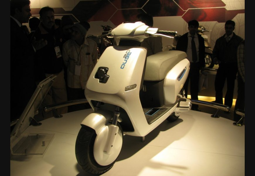 First time ever a hybrid scooter IQube from TVS